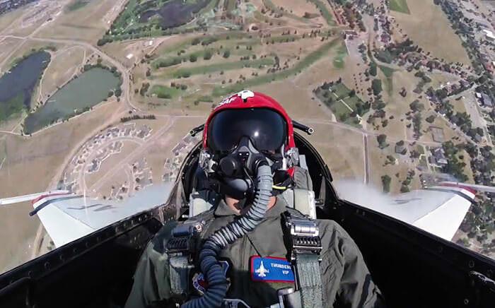 Blue Million Sage Kimzey with US Air Force Thunderbirds